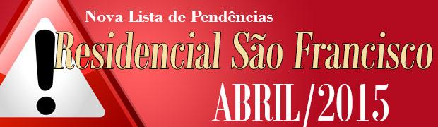 Lista de Penedencias São Francisco Abrol 2015