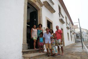 A família carioca aprovou o passeio pelo Centro Histórico